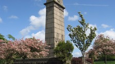 The memorial in Rickerby Park