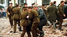 The aftermath of the 1987 Enniskillen bomb attack.