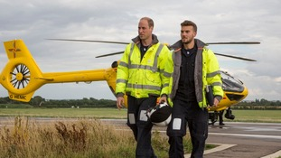 Prince William attended a serious collision during his final shift.