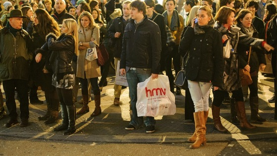 Shoppers on Oxford Street.