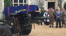 Normandy veteran's coffin carried through streets of Canterbury