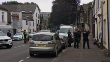 Armed police incident closes Cardiff road