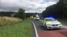 Police have closed the A66