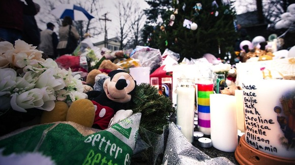 Sandy Hook village tributes