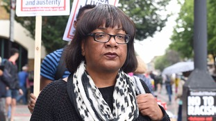 Hackney North and Stoke Newington MP Diane Abbott was at the protest.
