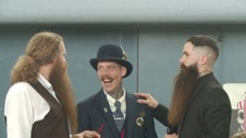 The competition attracts a wide variety of facial hair styles!
