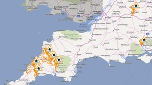 Flood alerts issued for the West Country