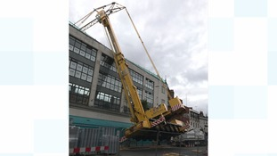 60 homes evacuated after crane collapses in central Reading