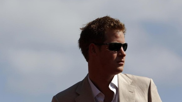 Prince Harry during his recent Diamond Jubilee tour to the Caribbean