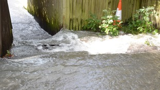 Clear up in Folkestone as homes without water after pipe burst