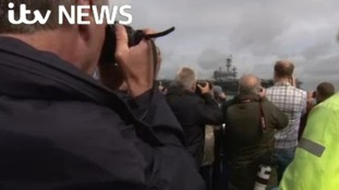 Busy weekend in the Solent as American aircraft carrier attracts fans