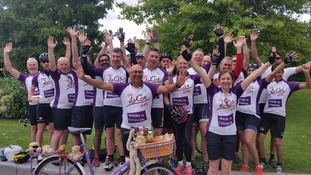 Cyclists finish gruelling 285mile ride in memory of Jo Cox