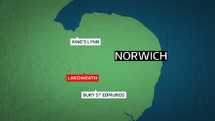 The collision between a car and a motorbike happened Sunday in Lakenheath.