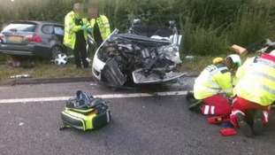 Young girl taken to major trauma centre after crash