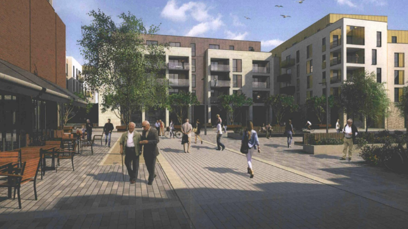 Plans to build 150 affordable homes on old brewery site for Build affordable home