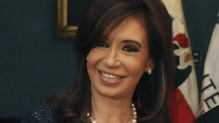 Argentine President Cristina Kirchner has held patriotic rallies as part of the Falklands anniversary.