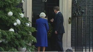 The Prime Minister welcomes the Queen to Downing Street