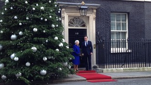 The Queen arrives at Downing Street
