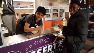 Schoolboy wins national award after creating popular dessert van