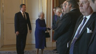 The Cabinet is introduced to the Queen
