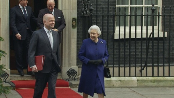 The Queen leaves Downing Street