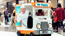 Mr Happy is coming to the Metrocentre on Friday