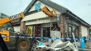 The ram-raid caused significant damage to the building