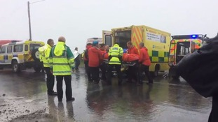 More than 50 people were 'in difficulty' in the Mourne Mountains.