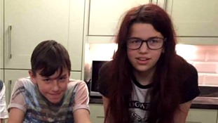 12-year-old twins James and Amy Gaskin