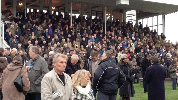 Busy stands at Folkestone Race Course