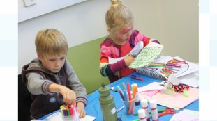 It's hands-on work for the young research helpers