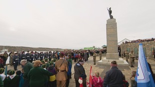 A special Liberation Day service for Falklands veteran