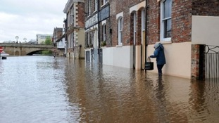 Flooding on the River Ouse in York