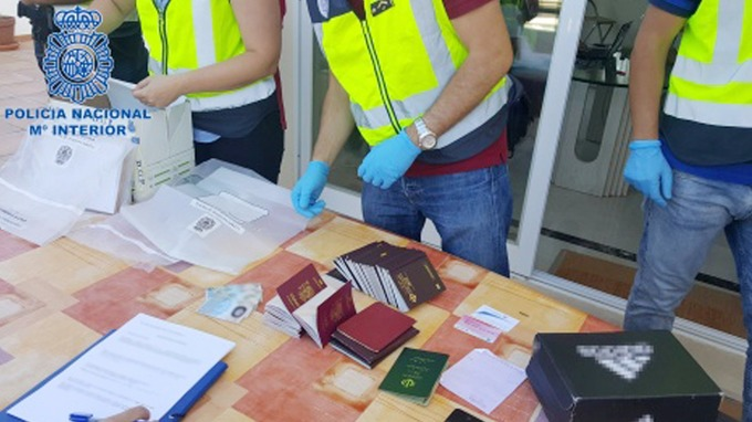 The gang were found using a mixture of forged and real passports