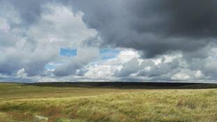 Shower clouds over Marsden Moor, West Yorkshire
