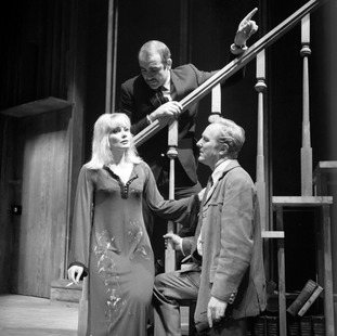 Robert Hardy, seen being directed by Sean Connery opposite Diane Cilento in 1969 West End play I've Seen You Cut Lemons.