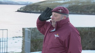 A moment of remembrance for one Falklands veteran