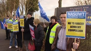 Teachers at school in Derby defend decision to go on strike