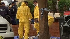 Investigators carry out searches in the aftermath of the plot's discovery.