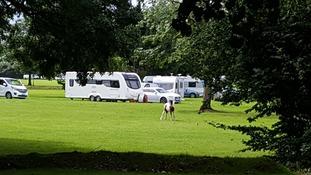 Travellers arrive near leafy 'millionaires row'