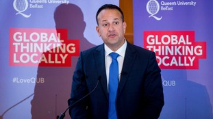 Leo Varadkar is on a two-day visit to Northern Ireland to discuss north-south relations.