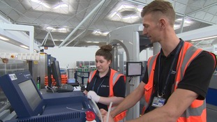 The college at Stansted wants to create more skilled workers, like these engineering apprentices.