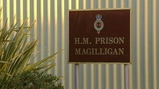 The man died on Friday morning, the Prison Service said.