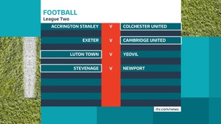 The opening fixtures in League Two