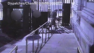 A still from the CCTV footage to be shown on Dispatches/Channel 4 News