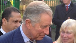 Prince of Wales visits community project.