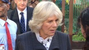 Duchess of Cornwall visits community project.