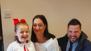 Bradley Lowery's family return to Stadium of Light