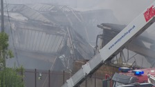 Around 100 firefighters deployed to tackle blaze at toy factory