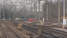 Work on damaged overhead cables in Hertfordshire.